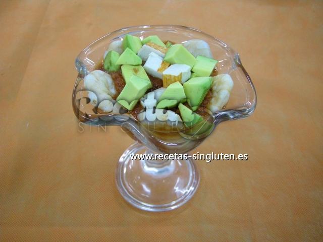 Avocado Con Camarones