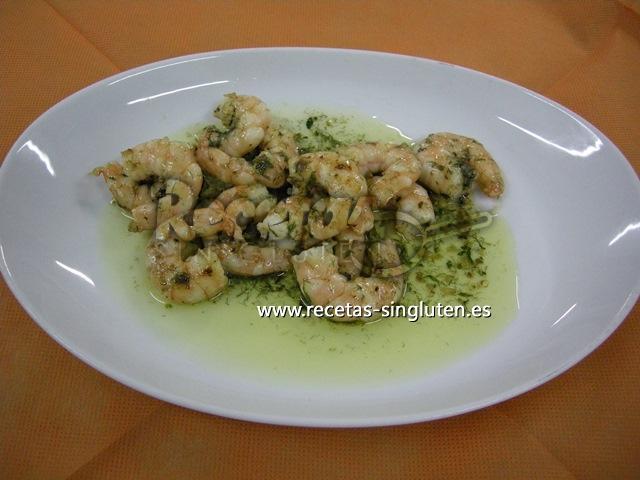 Camarones Con Hierbas Aromáticas